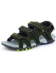 SRV Men's Vibe Black/Green Sandals & Floaters