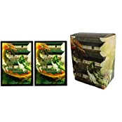 """Max Pro Dragon Invasion """" Trouble At The Temple """" Deck Box + 100 Matching Gloss Finish Sleeves (Fits Magic / Mtg..."""