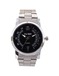 Turbo Youth Analogue Black Dial Men's Watch - R108-003M