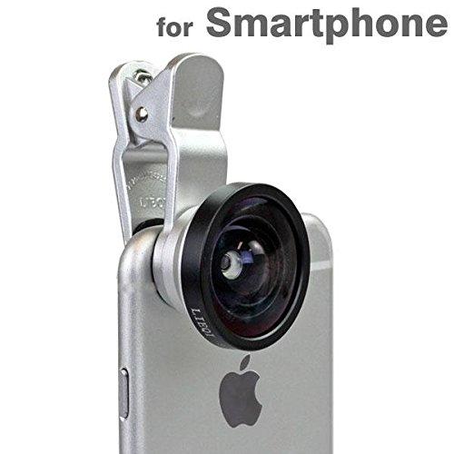 Hamee セルカレンズ 0.4x スマホ カメラ レンズ 広角 ワイド クリップ セルフィーレンズ / シルバー
