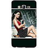 For Samsung Galaxy On5 (2015) :: Samsung On 5 Hello Yes ( Hello Yes, Good Quotes, Beautiful Girl, Girl, Cute Girl, Girl With Book ) Printed Designer Back Case Cover By FashionCops
