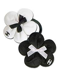 Super Drool Black And White Designer Flower Hairbands