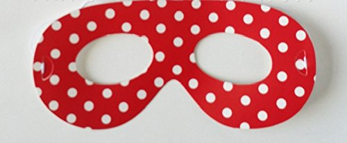 PARTY PROPZ RED POLKA DOT EYE MASK/ RED POLKA DOT PARTY SUPPLIES/ RED POLKA DOT PARTY DECORATION