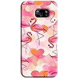 Tecozo Designer Printed Back Cover For Samsung Galaxy S7, Samsung Galaxy S7 Back Cover, Hard Case For Samsung Galaxy S7, Case Cover For Samsung Galaxy S7, (Flamingo Pattern (Birds Pattern ) Design,Pattern)