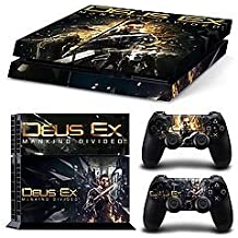 Elton Deus Ex - Mankind Divided - Theme Skin Sticker Cover For PS4 Console And Controllers