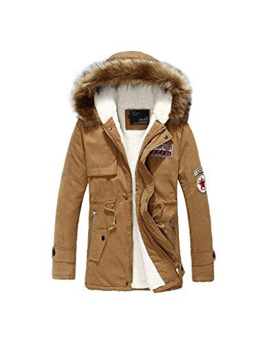 Zacoo Herren Trench Coat Winterjacke Windjacke Outwear Größe XXL Khaki