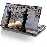 "Snoogg Chess And Employment Concept Designer Laptop Skin Sticker For 14 To 15"" Laptops"