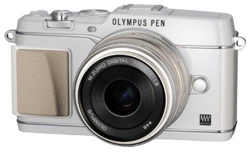 OLYMPUS ミラーレス一眼 PEN E-P5 17mm F1.8 レンズキット(ビューファインダー VF-4セット) ホワイト E-P5 17mm F1.8 LKIT WHT