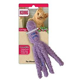 KONG Cat Hugga Wubba, Cat Toy (Colors Vary)