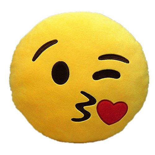 LI&HI Emoji émoticônes oreiller Rire coussin président Oreiller Coussin de siège rond...