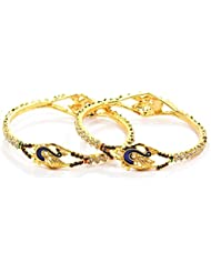 Peach & Glory Gold Plated Peacock Bangle For Women SIZE 2.6 (A142)