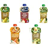 5packs Happy Baby Clearly Crafted, Organic Baby Food, Stage 2, Pears Kale & Spinach, Apples Blueberries & Oats...