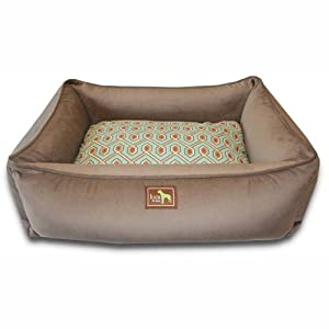 Amazon.com : Luca for Dogs Lounge Dog Bed, Coco/Diamond