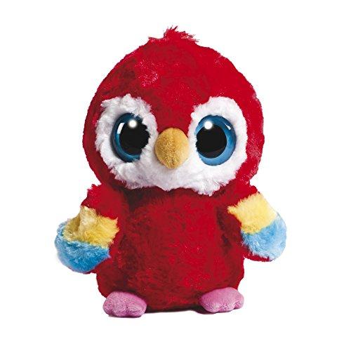 YooHoo and Friends 12983 - Peluche, Pappagallo macao, circa 13 cm, colore: Rosso