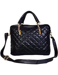 Ayeshu All Black Pu Hand-held Bag
