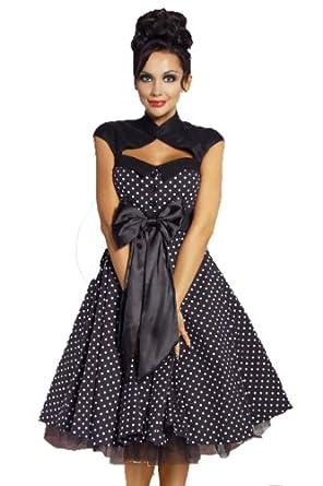 Rockabilly-Kleid schwarz inkl.Petticoat-Rock 50er Jahre (M