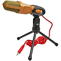 AyiHuan Stand Alone Microphone Condenser For PC Computer Laptop Notebook W Noise Canceling Plug And Play SF-666...