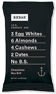 RXBAR Whole Food Protein Bar, Chocolate Sea Salt 1.83 Ounce (Pack of 12)