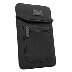 Neoprene Sleeve with front accessory pouch for E-Readers - fits Amazon Kindle, Sony PRS, and Barnes & Noble Nook