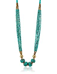Swan Multi-strand Necklace For Women (Turquoise Blue) (KBI - 025)