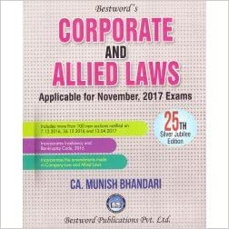 Munish Bhandari's Corporate & Allied Laws for CA Final November 2017 Exams