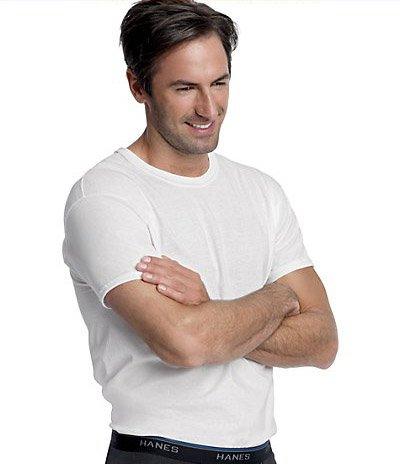 HANES Men's ComfortBlend Crew Undershirt - 3 Pack - 2535P3 -