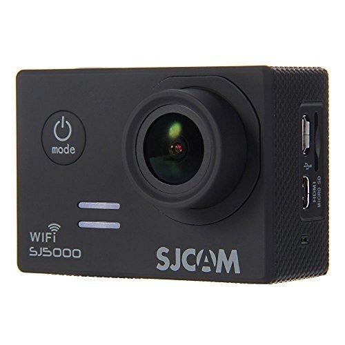 SJCAM ORIGINAL WIFI SJ5000 - Cámara de Deporte para casco Negra Impermeable, Video de Alta definición 1080p 720p negro + Batería WINGONEER® extra