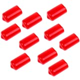 Segolike 10 Pieces Snooker Cue Stick Tip Protective Cover Case Red - Snooker Cue Accessories