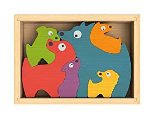 Amazon.com: ImagiPLAY Dog Family Puzzle: Toys & Games