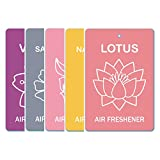 Edelcrafts Car Home Office Paper Hanging Air Freshener (Buy 4 Get 5) - FREE SHIPPING - Choice: Lotus, Narcissus...