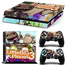 Elton Little Big Planet-3 Theme Skin Sticker Cover For PS4 Console And Controllers