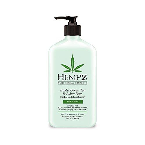 Hempz Exotic Herbal Body Moisturizer, Light Green, Exotic Green Tea/Asian Pear, 17 Fluid Ounce
