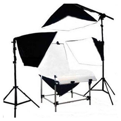 Table de prise de vue de base pour Appareil photo 60 x 130 cm Photographique Photo Top Video Studio Table De Prise De Vue Kit Eclairage de Lumière Fro...
