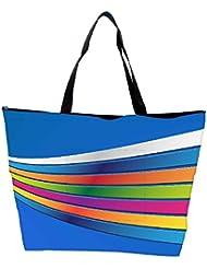 Snoogg Blue Background Strips Designer Waterproof Bag Made Of High Strength Nylon