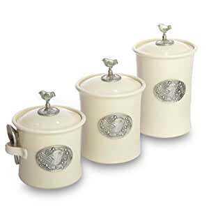 cream kitchen canisters artisans domestic ceramic canister 3 11253