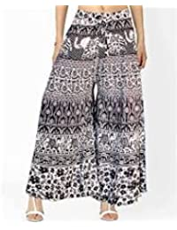 """CRAFTART COTTON WOMAN""""S PALAZZO (ASSORTED DESIGN IN BLACK AND WHITE)"""