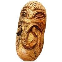 Tohfabazaar Wooden Ganesh Design Hand Crafted Art Peice (25 Cm X 15 Cm X 30 Cm , Brown )