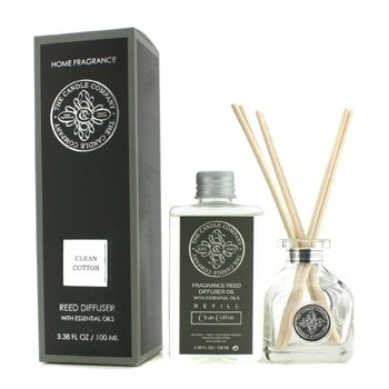 The Candle Company Reed Diffuser With Essential Oils - Clean Cotton- 100ml/3.38oz