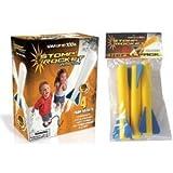 Stomp Rocket Junior Glow Kit with Extra Jr. Glow Rocket Refills, Blue