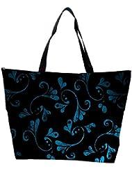 Snoogg Blue Abstract Design Designer Waterproof Bag Made Of High Strength Nylon