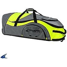 "Champro Sports Catcher's Roller Bag, Charcoal/Optic Yellow, 36"" L X 12"" W X 12"" H"