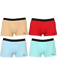 Clifton Mens Trunk Underwear Pack Of 4-Aqua Blue-Banana Cream-Light Blue-Red-TRUNK