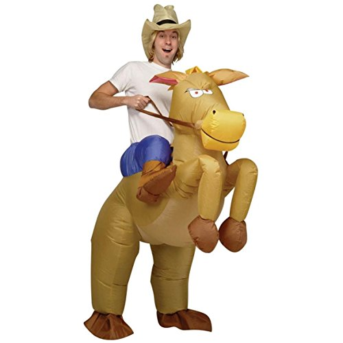 Halloween Inflatable Cowboy Outfit - Horse Fancy Dress Costume