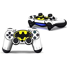 Elton PS4 Controller Designer 3M Skin For Sony PlayStation 4 DualShock Wireless Controllers (set Of Two Controllers Skin) - Batman (White, Yellow, Black)