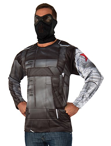 Men's Captain America Winter Soldier Long Sleeve Costume Top