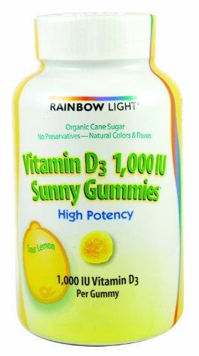 Rainbow Light Vitamin D Sunny Gummies Sour Lemon - 1000 IU -