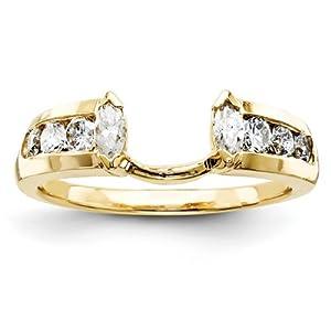 IceCarats Designer Jewelry Size 6 14K Aaa Diamond Wrap