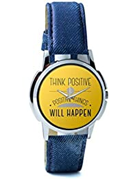 BigOwl Think Positive And Positive Things Will Happen Analog Men's Wrist Watch 2004498626-RS1-W-BLU