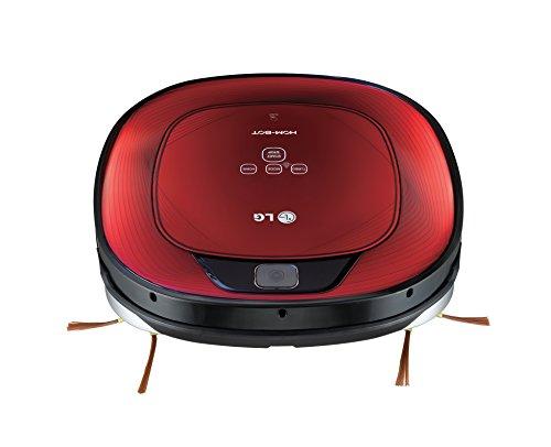 LG Hombot Square VR64702LVMB - Robot aspirador, casas con alfombras, color rojo