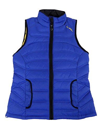 Lauren Active L-RL Womens Quilted Down Puffer Vest Blue